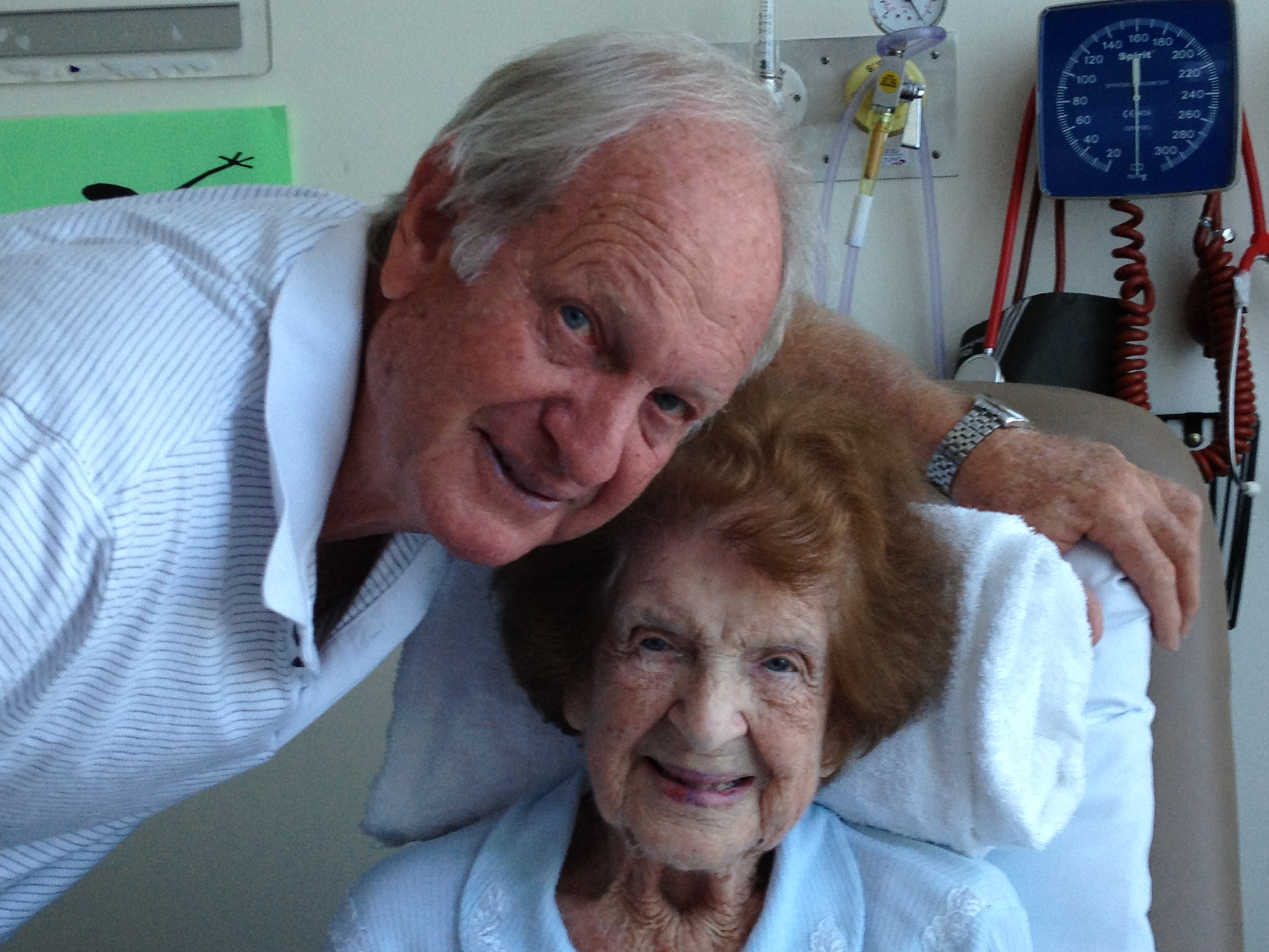 The last photo I have of Nana, taken with my Dad on my birthday, 6 September, 2012