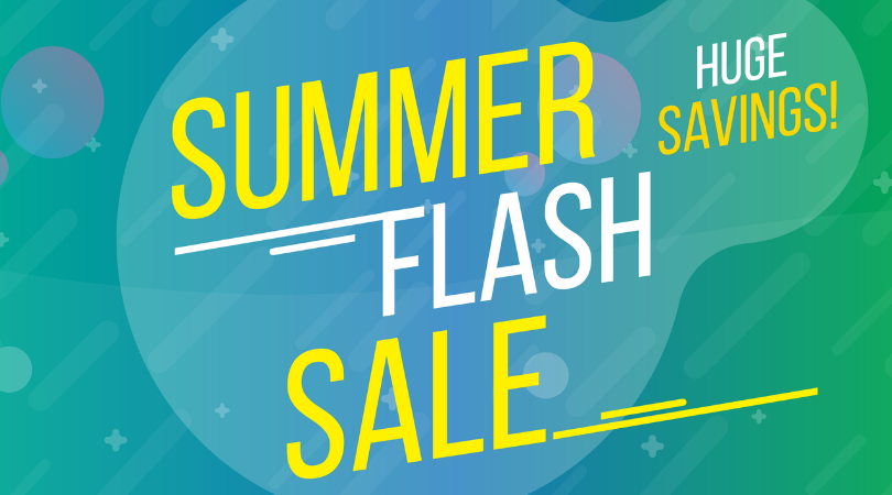 Summer Flash Sale! 2 Days only