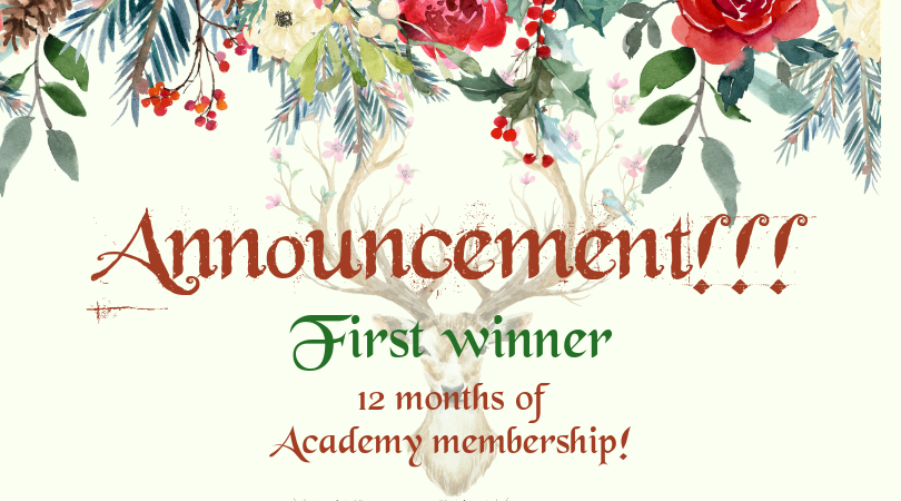 Our First Winner Is…