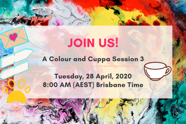 Come join us for our next 'Colour and Cuppa' Online Gathering!