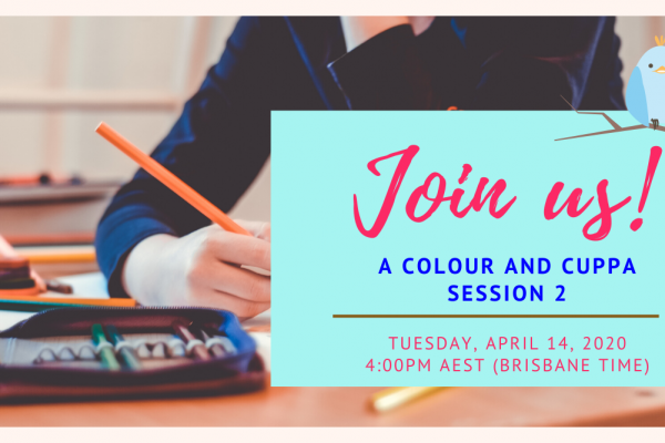 Come join us for our free Colour and Cuppa Webinar!