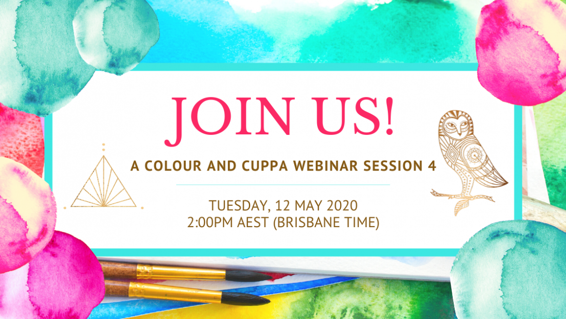 Join us for our next 'Colour And Cuppa' Online Gathering! ❤