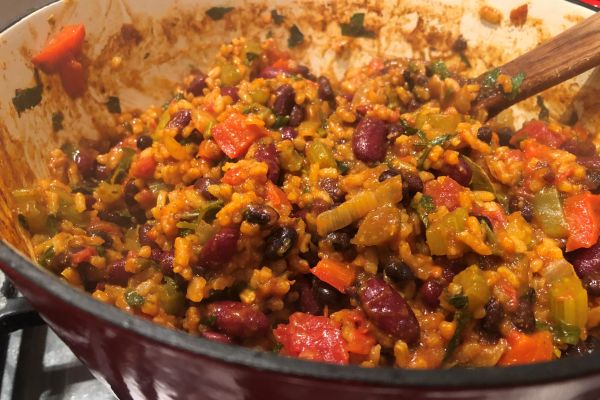 Franc's Tasty Beans And Rice One Pot Meal Recipe